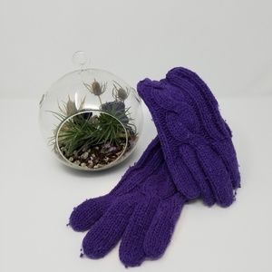 ❄☃️Gap cable knit gloves purple